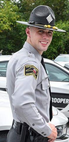 NC Highway Police Police Cops, Police Uniforms, Police Officer, Cop Uniform, Men In Uniform, Sexy Men, Sexy Guys, Hot Men