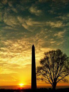 Washington Monument DC - #frifotos theme is Orange. Here are some beautiful sunsets around the world. (haiti, canada, new zealand, united states, hawaii, travel, photography.)