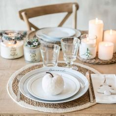Set de table rond en jute blanc | Maisons du Monde