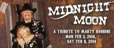 LIKE THE MUSIC OF MARTY ROBBINS???  Well, you can hear a tribute to Marty Robbins music when MIDNIGHT MOON, the duo of  Roger Wade & Jeanne Danowski, take the stage at THE MINING CAMP RESTAURANT, beginning MONDAY, FEB. 3rd thru SATURDAY, FEB. 8th.  And while you're enjoying the music of MIDNIGHT MOON, you will be feasting on some of the best food in AZ: ROAST CHICKEN & DRESSING, HONEY-BAKED HAM, BBQ RIBS and all the fixin's just like the old miners of days gone by!