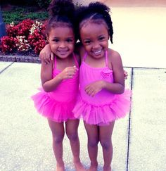Asia(left ) and Aniyah back from ballet !