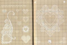 216314-89eae-43154428--u55dec — Postimage.org Cross Stitch Heart, Counted Cross Stitch Patterns, Cross Stitch Embroidery, Blackwork, Cross Stitch Pictures, Valentines Day Decorations, Holiday Crafts, Needlework, French Lace