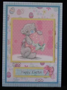 Easter Tatty Teddy card by Donna Halligan