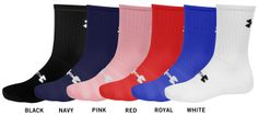 UnderArmour All-Sport Crew Socks Color 1 Pair Navy One Pair Pink $7.99