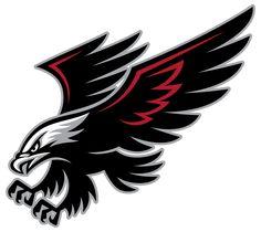 Best Tribal Hawk Tattoo Design - Simple black and red flying hawk. Bird Tattoo Meaning, Tattoos With Meaning, Tattoo Meanings, Logo Esport, Team Logo, Hawk Logo, Hawk Tattoo, Falcon Logo, Eagle Mascot