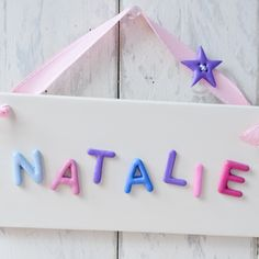 Children's Bedroom Door Sign - Pretty in Pink