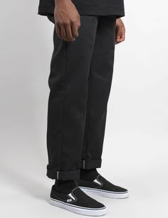 Skate & Streetwear Dickies 873 Slim Straight Work Pant - Schwarz First things first – get your stuff Fashion Killa, Look Fashion, Mens Fashion, Fashion Outfits, Skate Fashion, Skateboard Fashion, Outfits Hombre, Skate Style, Skate Wear