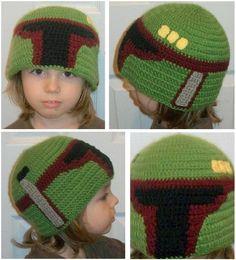 Boba Fett (or Jango Fett) Crochet Hat @Sarah Rezer!!!!!!