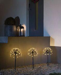Pynt opp hagen med disse dekorative LED figurene fra Konstsmide hvor tre lysballer står på hver sin pinne og kan festes i bakken for å lyse opp i vintermørket. Decor, Wall Lights, Lighted Bathroom Mirror, Light, Sconces, Led, Settings, Mirror, Bathroom Lighting