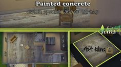 Mod The Sims - industrial decaying painted concrete floor