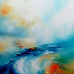 "Saatchi Online Artist Alison Johnson; Painting, ""Rising The Surf"" #art"