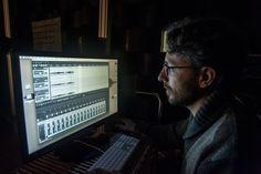 Dr. Massimiliano Zanoni equalizing the recordings