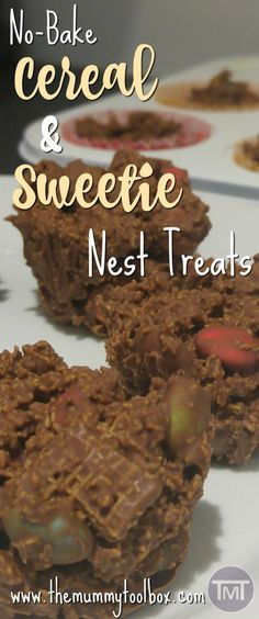 Don't let the cereal fool you, these sweetie nest treats are definitely not a healthy breakfast alternative but they definitely are delicious! Healthy Desserts, Easy Desserts, Recipe Cover, Easy Food To Make, Perfect Food, Quick Recipes, Chocolate Recipes, Family Meals, Love Food