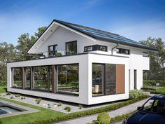 Modern Home Design Concept-M 210 - Home Planssearch Dream Home Design, Modern House Design, Modern Architecture House, Architecture Design, Casa Atrium, Square House Plans, Living Haus, Double Storey House, Garage Door Design