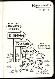 God's Kindness leads us to Repentance • Romans 2 • Devotions Sketchbook •  Aaron Zenz