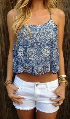 summer outfits. cute tank.