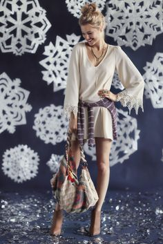 Deck the halls with a bohemian flair of plaid and lace. #stela9 via @ThreadSence