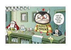 "SMH 7/5/14. © Glen Le Lievre 2014. Monster Budget Emergency, Joe ""Shrek"" Hockey #auspol #smh #budgetemergency pic.twitter.com/2Nd6EmPuMw"