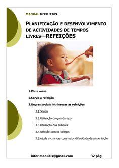 ufcd 3289 - Planificação e desenvolvimento de actividades de tempos livres refeições