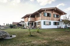 Lerchenmüller Holzbau GmbH – solid wood houses and modernization - Home Page Garden Architecture, Architecture Details, Interior Architecture, House Windows, Facade House, House Facades, Building A Pool, House In The Woods, Log Homes