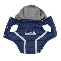 Our Official Seattle Seahawks Dog Puffer Vest is the perfect product for almost any pet at an exceptional value! Weekly promos with same day shipping! Hooded Vest, Puffer Vest, Seattle Dog, Water Logo, Team Gear, Bow Wow, Dog Sweaters, Dog Coats, Seattle Seahawks