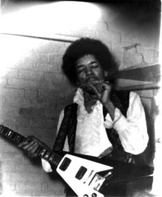 Jimi Hendrix - with his Flying V