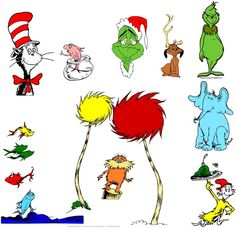Krafty Nook: Dr. Seuss SVG Files: