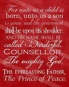 Christmas Scripture Print