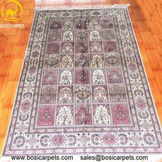 Hand knotted silk rug # Rug No.: P0350 # Quality: 230L (368kpsi) # Size: 4x6ft (122x183cm) # Material: 100% Silk # wholesale Price: $1080/piece # If you have any interests, please email to sales@bosicarpets.com             Hand-madecarpet#orienatlrug#oldrug#Kashmirrug#Chinacarpet#Iraniancarpet#boteh#HeratiGul# Isfahan#Tabriz#Qum#Nain#Kashan#Kerman#Bijar#Sarouk#Caucasian#antiquecarpet#bosicarpet