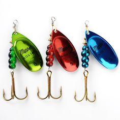 1 개 3 색상 Size0-Size5 낚시 하드 미끼 미끼 Leurre Peche Mepps 숟가락 낚시 태클 Vissen Pesca Acesorios