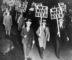 October 31, 1931, labor union members in Newark, NJ, march against Prohibition