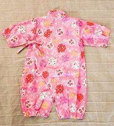 Kimono For Baby Pink Cherry Blossom Kimono One Peice Outfit