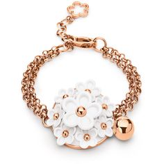 Folli Follie Follie Di Fiori Rose Gold Bracelet  ((love the flowers))