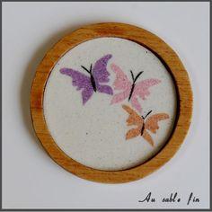Sous-verre papillons 1