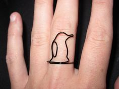 Wire Wrapped Penguin MADE to ORDER Ring by 1ofAkinds on Etsy, $6.00