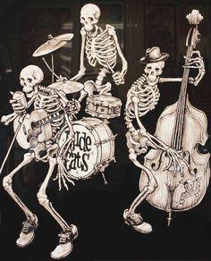 Skulls & Skeletons-Rude Cats Band