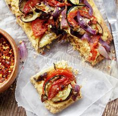 Grilled vegetable and hummus tart | HellaWella