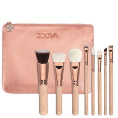 Rose Golden Vol. 2 Luxury Set - Kit de Pinceaux Teint + Yeux