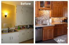 Ideas Reface Kitchen Cabinets Before And After - pictures, photos, images
