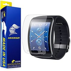ArmorSuit MilitaryShield  Samsung Gear S Smartwatch Matte Screen Protector 2Pack AntiGlareAntiFingerprintAntiBubble  Touch Responsive Shield with Lifetime Replacements >>> Read more reviews of the product by visiting the link on the image. (Note:Amazon affiliate link)