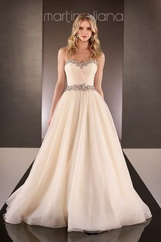 Gown by Martina Liana #weddingdresses #ballgowns