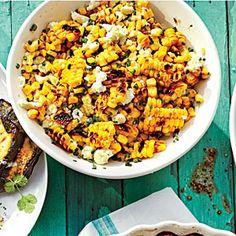 Grilled Mexican Corn Salad | MyRecipes.com.  I'll use greek yogurt instead of mayo