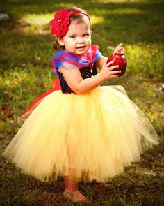 Snow White Halloween Costume Tutu Dress on Etsy, $70.00