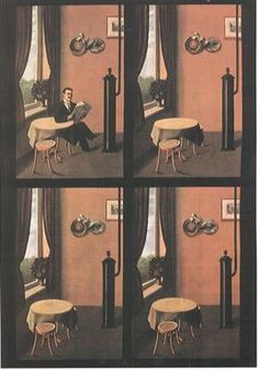 Man reading a newspaper - Rene Magritte