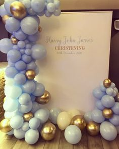 Celebration Balloons, Balloon Decorations, Christening, December, Balloon Centerpieces