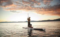 Lake Tahoe + Paddleboarding... amazing combo.