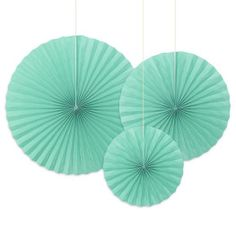 Faltrosetten-Set Mintgrün