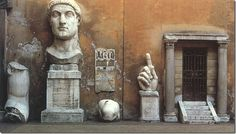 Fragments from a colossal statue of Constantine, Capitoline Museums, Capitoline Hill, Rome,