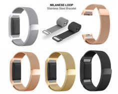 4101017f615 Milanese Loop Watch Band stainless steel Magnetic Strap For Fitbit Charge 2  Pulseiras De Carga Fitbit
