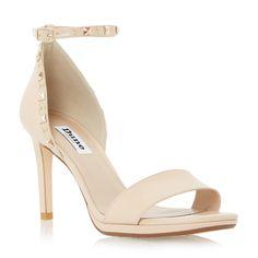 DUNE LADIES MISSIE - Studded Two Part Mid Heel Sandal - nude | Dune Shoes Online